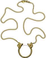 Double Headed Ram Monocle Necklace