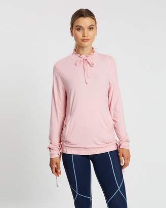 MORE BODY - Women's Pink Long Sleeve T-Shirts - Femininely Spinae Long Sleeve Top - Size One Size, 10 at The Iconic