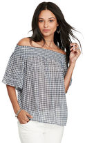 Denim & Supply Ralph Lauren Plaid Off-The-Shoulder Top