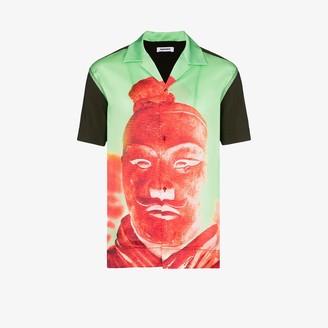 Pronounce Statue print button-down shirt