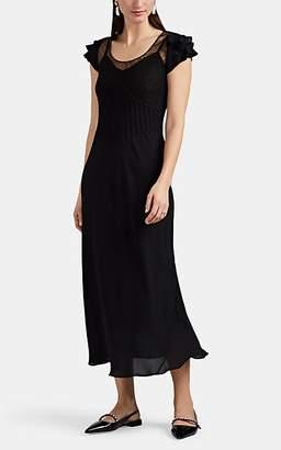 HIRAETH Women's Vera Lace-Inset Crepe Dress - Black