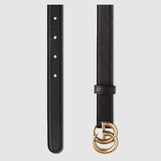 Gucci GG Marmont caimn belt with shiny buckle