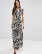 French Connection Maxi Dress in Aninal Print