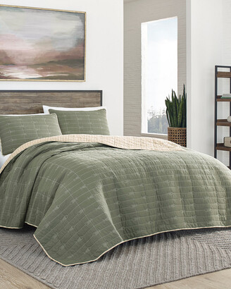 Eddie Bauer Troutdale Green Quilt Set