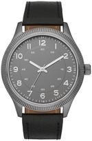 Merona Men's Coin Edge Bezel Watch in Black with Easy Read Dial