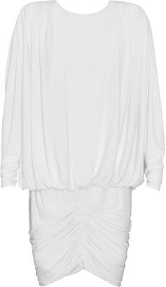 retrofete Flynn Ruched Jersey Mini Dress