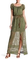 As U Wish Belted Lace Maxi Dress
