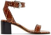 Givenchy Brown Croc Studded Elegant Sandals