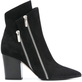 Sergio Rossi SR1 double-zip ankle boots