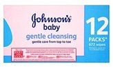 Johnson'S®Baby Gentle Cleansing 12 Packs 672 Wipes - Pack of 2