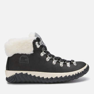 Sorel Women's Out 'N About Plus Conquest Waterproof Suede Boots - Black