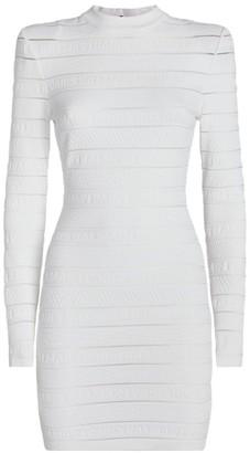 Balmain Logo Stripe Dress