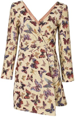 Rue Agthonis Butterfly Print Dress