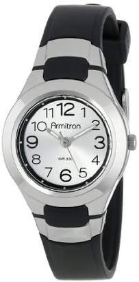 Armitron Sport Unisex 25/6418BLK Analog Easy-to-Read Dial Resin Strap Watch
