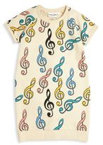 Mini Rodini Baby's, Toddler's, Little Girl's & Girl's Clef Printed Dress