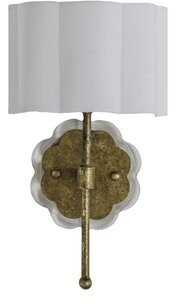 Gabby Shirley 1-Light Wallchiere Base Color: Gold