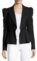 Milly Victoria Italian Stretch-Wool Gabardine Blazer