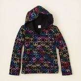 Children's Place Peace print glacier fleece hoodie