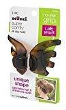 Scunci No-Slip Grip Hair Clip Uniq Shape Black/Dark Brown