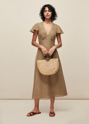 Frill Sleeve Midi Dress