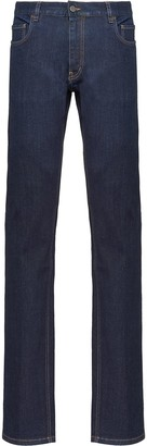 Prada Washed Effect Straight Jeans