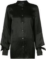 Ann Demeulemeester open back shirt - women - Silk - 36