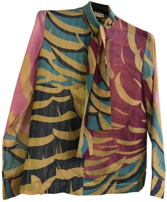 Issa Multicolour Silk Top for Women
