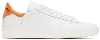 Heron Preston White and Orange Vulcanized Sneakers