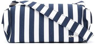 Sunnei Bauletto striped shoulder bag