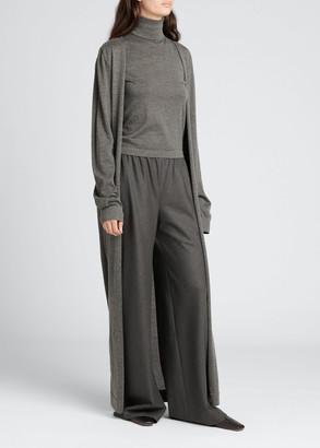The Row Bayo Cashmere-Silk Knit Long Cardigan