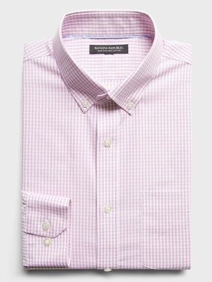 Banana Republic Slim-Fit Non-Iron Dress Shirt with Button-Down Collar