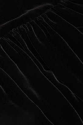 Cos MULBERRY SILK-MIX VELVET DRESS