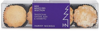 Harvey Nichols 4 Mini Traditional, Ginger, Rum & Amaretto Mince Pies Selection 70g