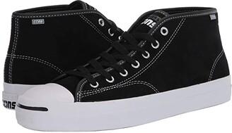 Converse Skate Jack Purcell Pro Suede - Mid (Black/White/Black) Men's Skate Shoes