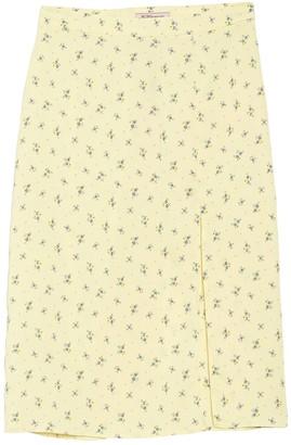 BCBGeneration Ditsy Floral Slit Front Maxi Skirt