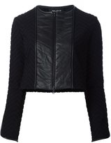 Yigal Azrouel chevron quilted jacket - women - Polyamide/Spandex/Elastane - 2