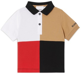 Burberry Kids Colour-Block Polo Shirt