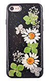 For iPhone 7 Case, HP95(TM) Luxury Black Bling Floral Pattern Case Cover Skin for iPhone 7 4.7inch (J)