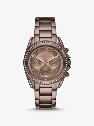 Michael Kors Oversized Blair Pave Sable-Tone Watch