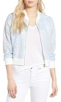 Cupcakes And Cashmere Women's Audrie Grid Mesh Bomber Jacket