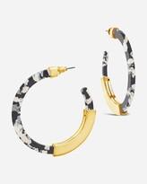 Express Sterling Forever Resin Bar Hoop Earrings