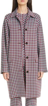 Rosetta Getty Gingham Cocoon Coat