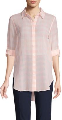 Calvin Klein Collection Gingham Button-Front Shirt