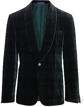 Ralph Lauren Purple Label Men's Printed Velvet Jacket