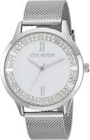 Steve Madden Women's Quartz and Alloy Casual Watch, Color:-Toned (Model: SMW089)