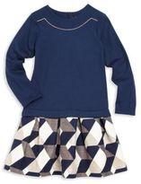 Lili Gaufrette Toddler's & Little Girl's Mixed Media Drop-Waist Dress