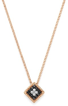 Roberto Coin 18K Rose Gold Palazzo Ducale Black & White Diamond Pendant Necklace, 18