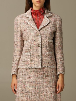 Etro Blazer Tailored Jacket In Wool And Bouclé Cotton