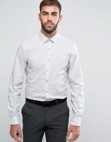 Calvin Klein Skinny Smart Shirt In Melange