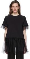 MM6 MAISON MARGIELA Black Tulle Sweatshirt